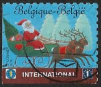 Belgium 2010 Christmas 1st International type 1 good/fine used